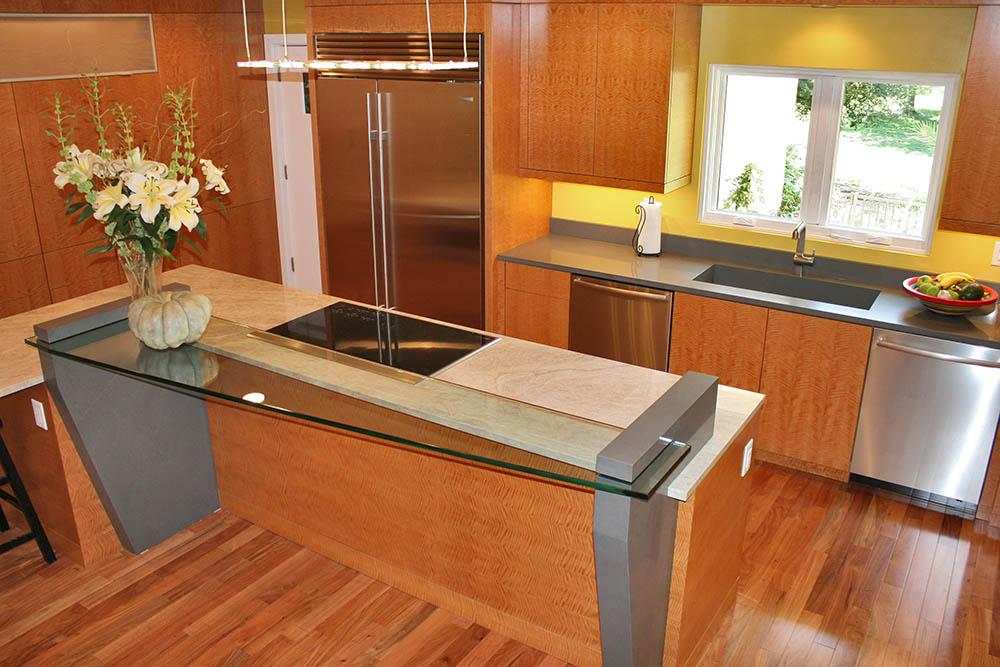 Quartz Kitchen Countertop Looks Like A Natural Stone