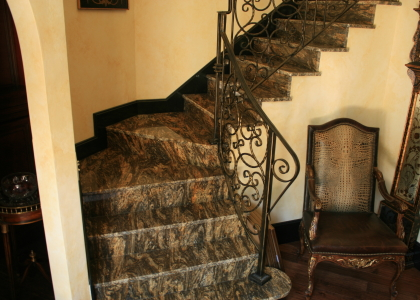 Custom Exotic Granite Stairs U0026 Risers